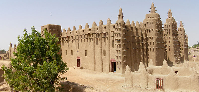 Djenne - Große Moschee - Panorama