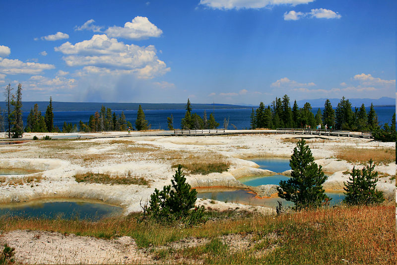 Yellowstone Park - Yellowstone Lake und West Thumb Geyser Bas